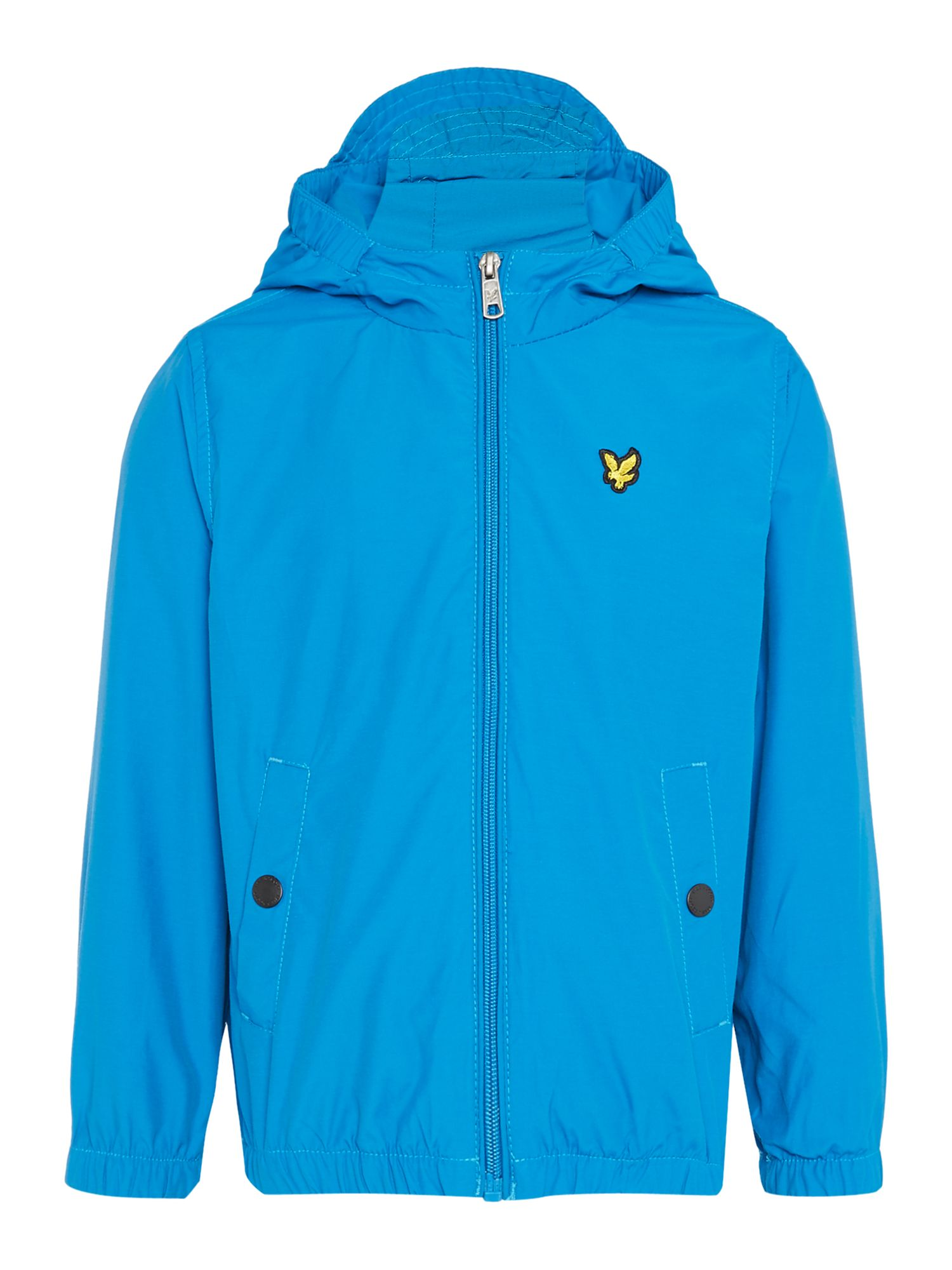 Lyle and Scott Boys Logo Zip Through Windbreaker Cobalt
