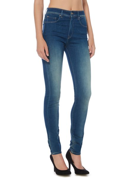 Salsa Carrie high waist skinny jeans in denim mid wash
