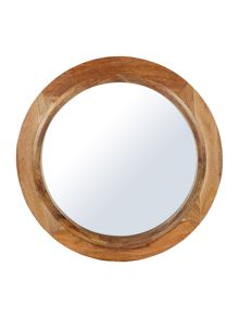 Dickins & Jones Betty Wood Mirror With coloured rim