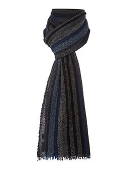 Wool and cashmere striped scarf