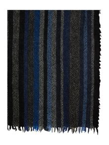 Howick Wool and cashmere striped scarf
