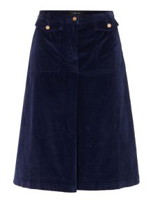 Lost Ink Cordroy Pleated Mini Skirt