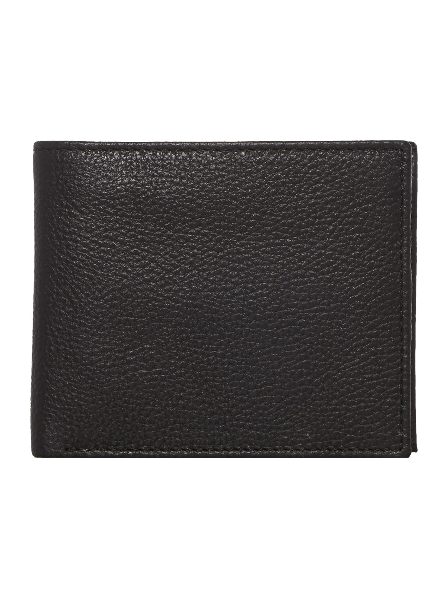 Howick Bold Grain Leather Wallet With Coin Pocket, Black