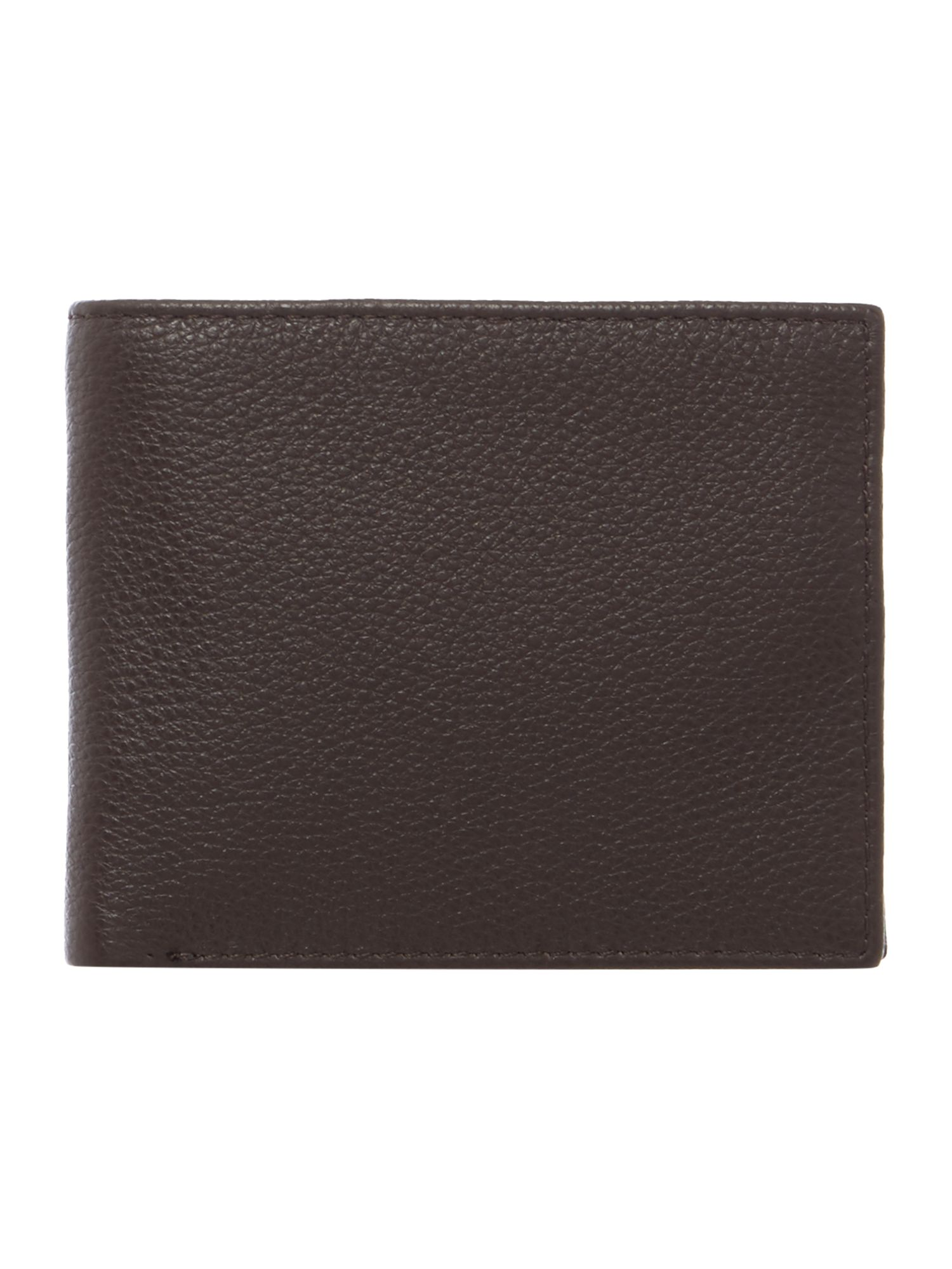 Howick Bold Grain Leather Wallet With Coin Pocket, Brown