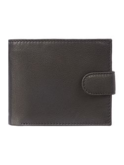 Bold Grain Leather Wallet With Flap Card Holder