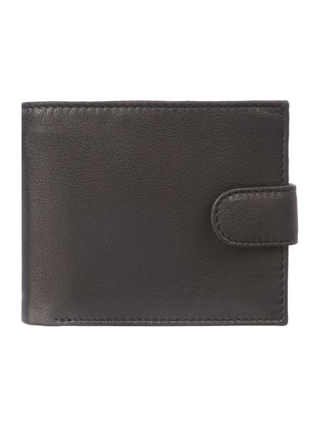 Linea Bold Grain Leather Wallet With Flap Card Holder
