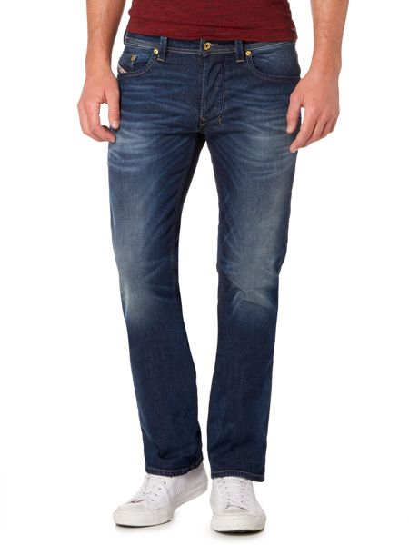 Diesel Larkee 853R straight fit mid wash jeans