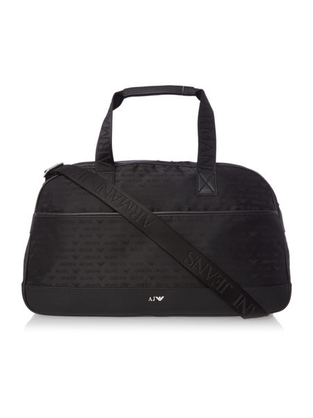 Armani Jeans All Over Logo Jacquard Poly Weekend Bag