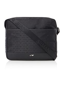 All Over Logo Jacquard Poly Messenger Bag