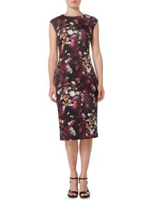 Therapy Nahia Micro Floral Scuba Dress