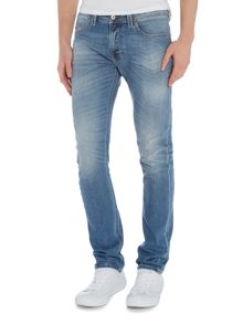 Diesel Thavar 842H slim fit stretch light wash jeans