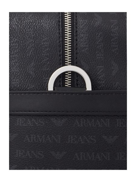 Armani Jeans All Over Logo PU Weekend Bag