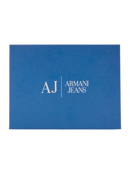 Armani Jeans All Over Logo PU Bifold Wallet