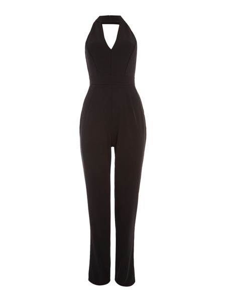 Jessica Wright Sleeveless Choker Slim Leg Jumpsuit