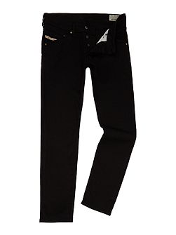 Belther 886Z tapered fit stretch black jeans