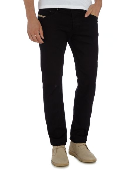 Diesel Belther 886Z tapered fit stretch black jeans