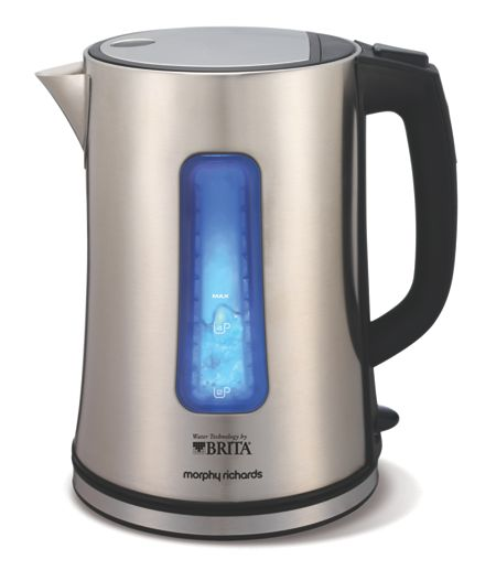Morphy Richards Brita Filter Kettle, Stainless Steel