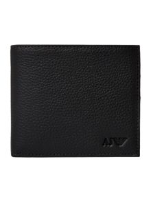 Armani Jeans Pebble Leather Bifold Wallet