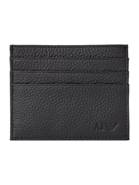 Armani Jeans Pebble Leather Card Holder