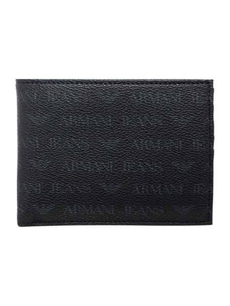Armani Jeans All Over Logo Armani Wallet And Keyring Set