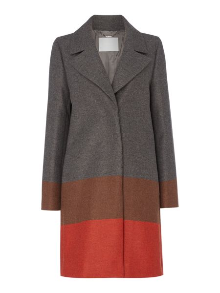 Hugo Boss Colora Colour Block Stripe Wide Coat