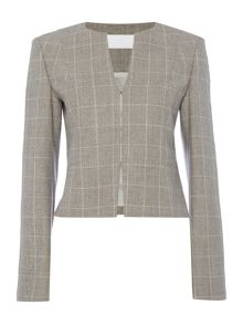 Hugo Boss Jafila1 Square Check Round Neck Jacket