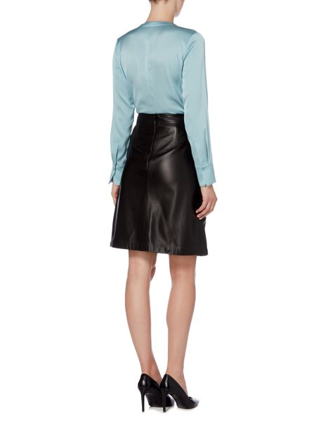 Hugo Boss Sepai Leather A Line Skirt