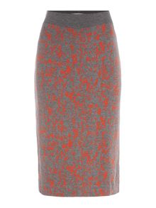 Hugo Boss Emkara Multi Print Jersey Skirt