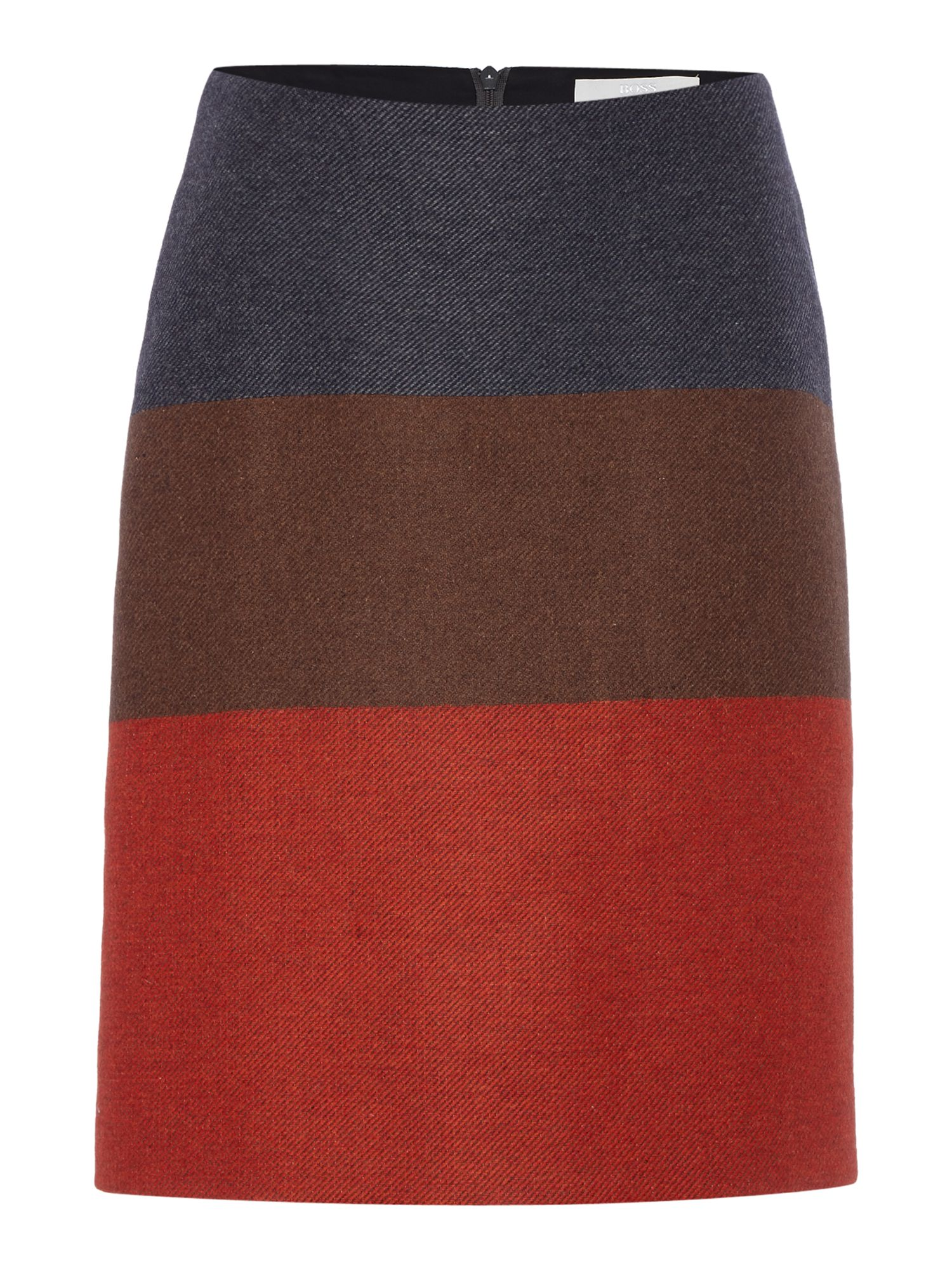 Hugo Boss Malivi Colour Block Bold Stripes Skirt Multi-Coloured £159.00 AT vintagedancer.com