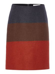 Hugo Boss Malivi Colour Block Bold Stripes Skirt