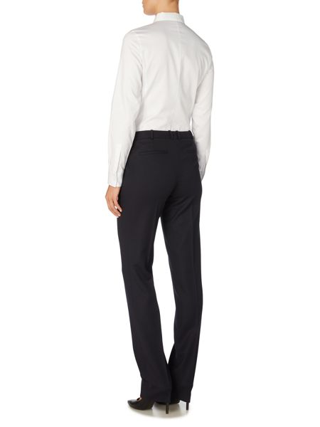 Hugo Boss Tamea1 Flannel Straight Leg Trousers