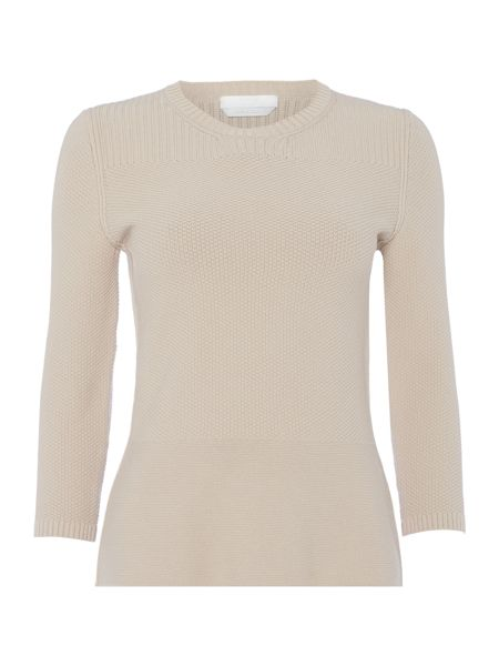 Hugo Boss Fahari ¾ Sleeve Peplum Textured Jumper