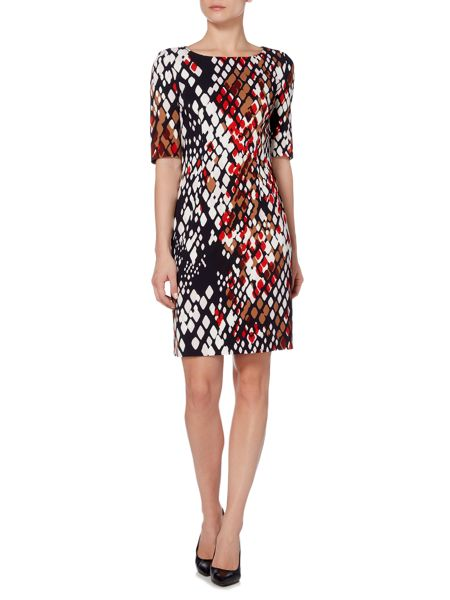 Hugo Boss Dinomi2 Half Sleeve Snake Print Dress