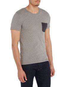 Selected Homme Contrast Pocket Crew Neck T-shirt