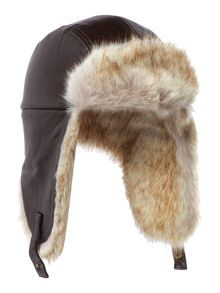 Armani Junior Boys Faux Fur Trim Trapper Hat