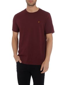 Farah Denny regular fit crew neck marl t shirt