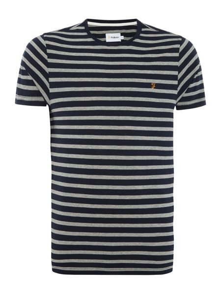 Farah Lennox regular fit stripe t shirt