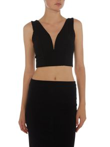 Wal-G Sleeveless Plunge Crop Top