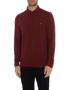 Farah Merriweather regular fit long sleeve polo shirt