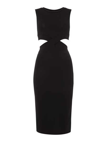 Wal-G Sleeveless Cut Out Bodycon Dress