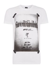 Diesel Diego-HN photo print t shirt