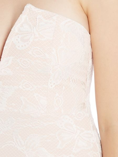 Wal-G Strapless Bandeau Lace Mini Dress