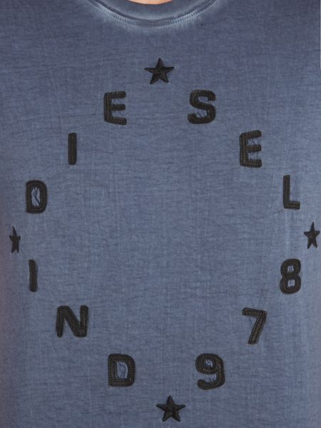 Diesel Diego-HA circle text logo t shirt