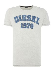 Diesel T-Joe-HW large embossed logo t shirt