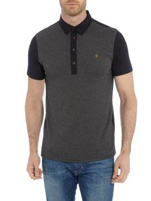 Farah Hammond regular fit textured front polo shirt