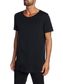 Diesel T-Marcuso long line crew neck t shirt