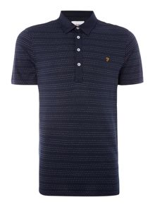 Farah Bentley regular fit spot stripe polo shirt