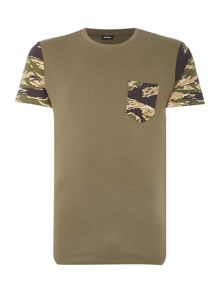 Diesel T-Diego camoflague pocket sleeve t shirt