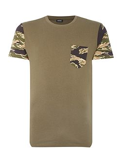 T-Diego camoflague pocket sleeve t shirt