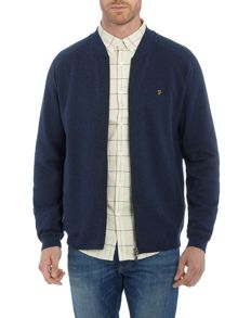 Farah Carrick zip through baseball jacket